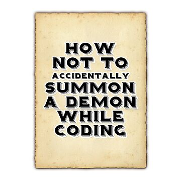Summon a demon while coding by Ankee