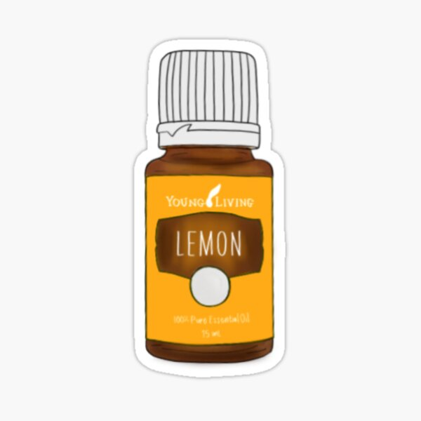 Aceite esencial de limon Pegatina