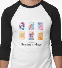 Reading is magic Men's Baseball ¾ T-Shirt