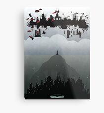 Bioshock- 2 worlds Metal Print