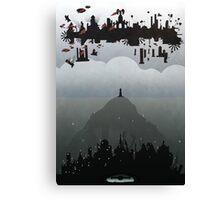 Bioshock- 2 worlds Canvas Print