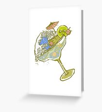 Spilled Drink Greeting Card