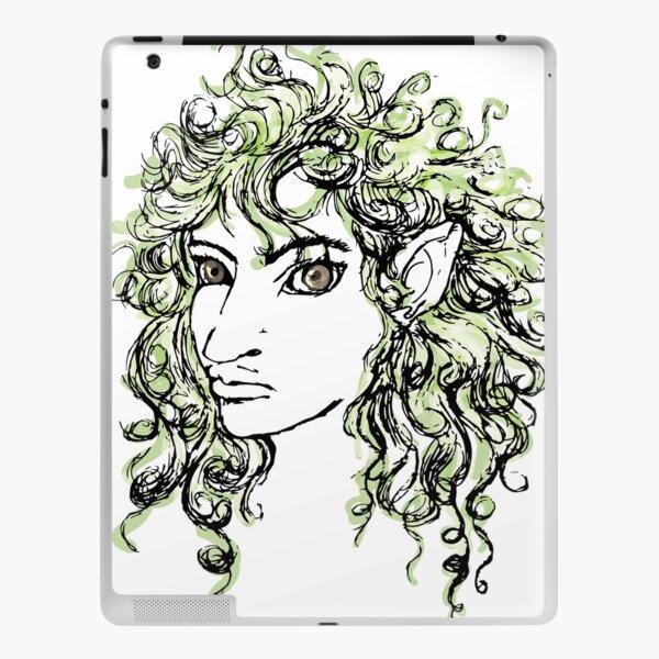 Female elf profile 1 iPad Skin