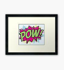Pow! Cartoon Framed Print