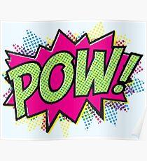 Pow! Cartoon Poster
