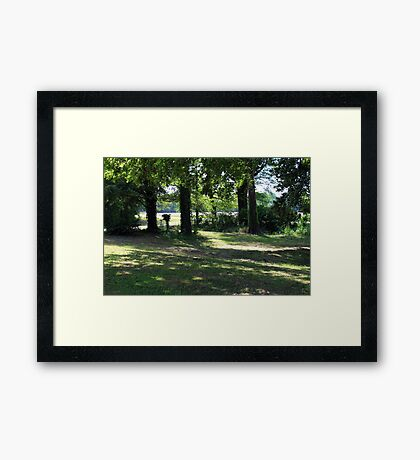 Peaceful Place In the Country Framed Print