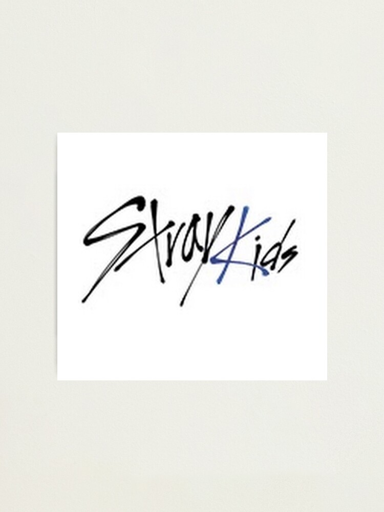 Stray Kids Logo Photographic Print By Makaylacar Redbubble Stray kids 최종회 9인 완전체 stray kids! redbubble