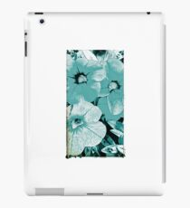 Turquoise screen floral iPad Case/Skin