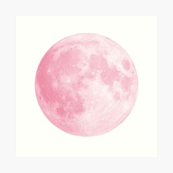 Pink Full Moon Art Print