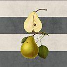 botanical stripes - pear by beverlylefevre