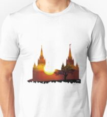 f2b8b0c7c781 San Diego Temple Orange Sunset Silhouette Unisex T-Shirt