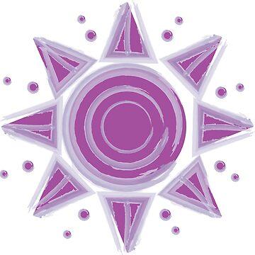 Púrpura acuarela sol de feliciasdesigns