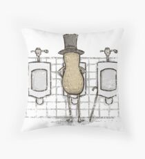 Mr. Peenut Throw Pillow
