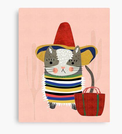 Travel Cat Canvas Print