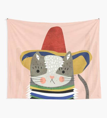 Travel Cat Wall Tapestry