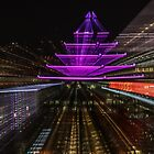 Montreal at Night Abstract by hummingbirds