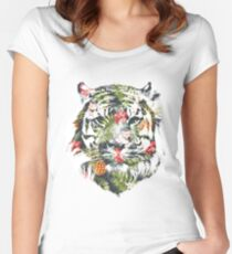 Tropical Tiger Women's Fitted Scoop T-Shirt