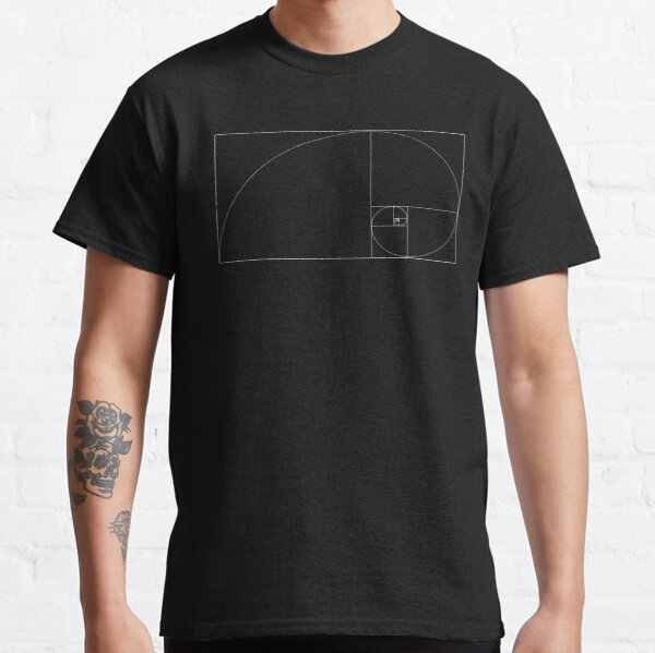 Golden Ratio - Phi - Black Classic T-Shirt