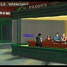 Nighthawks im Pub von Joe Scardilli