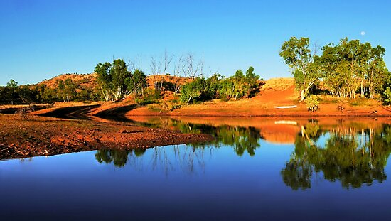 Early Morning on an Outback Dam by Lexa Harpell