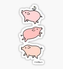 Swimming Pigs Sticker