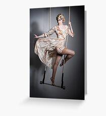 Burlesque Trapeze Greeting Card
