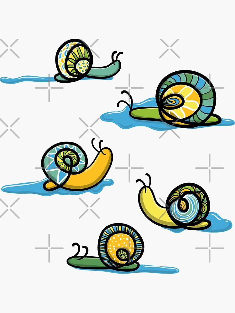 Zen snails with slime by nobelbunt