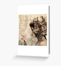 She walks in beauty... Greeting Card