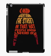 A man walks down the street... iPad Case/Skin