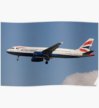 BA Airbus A320-232 Poster