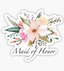 Blumenmädchen der Ehre Sticker