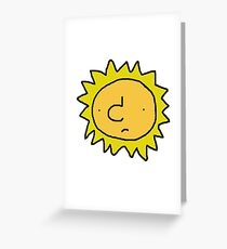 Unhappy Sun Greeting Card