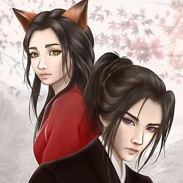Yumeko and Tatsumi by LoShimizu
