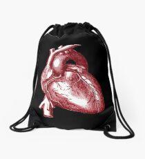 Vintage Heart Graphic Drawstring Bag