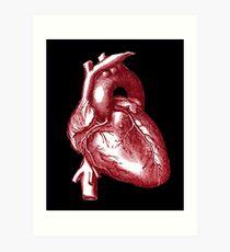 Vintage Heart Graphic Art Print