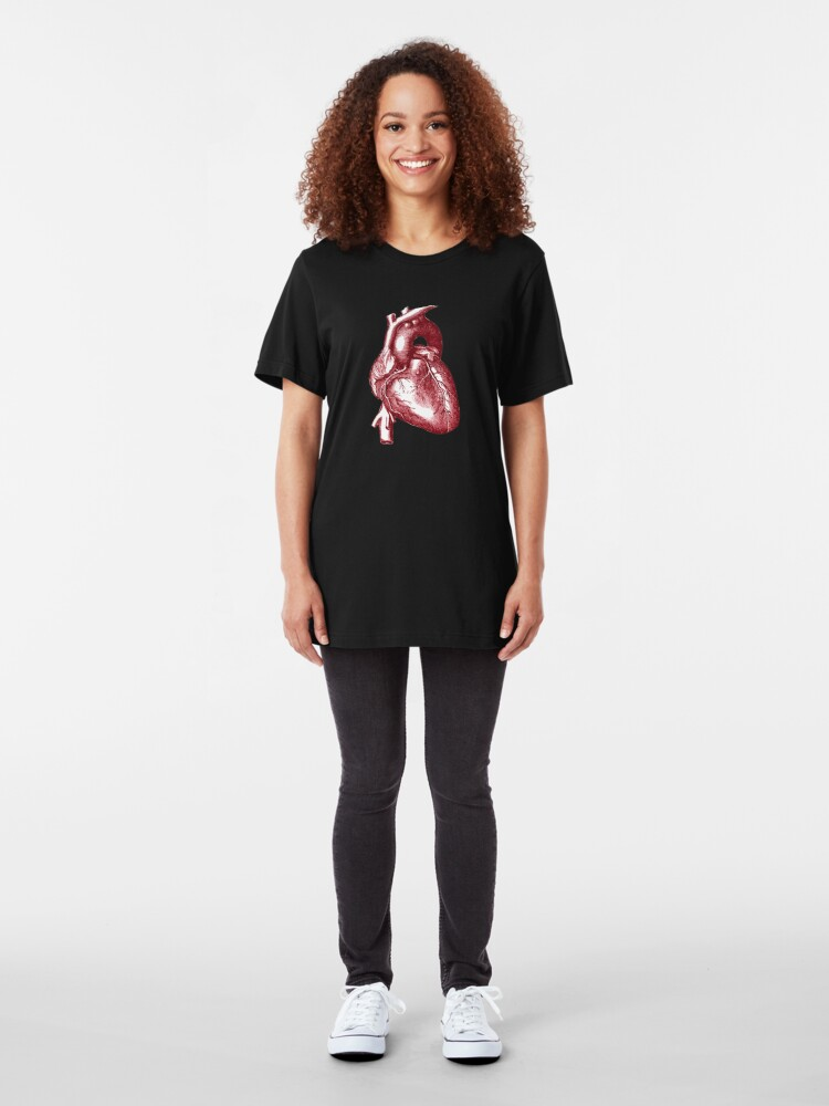 Alternate view of Vintage Heart Graphic Slim Fit T-Shirt