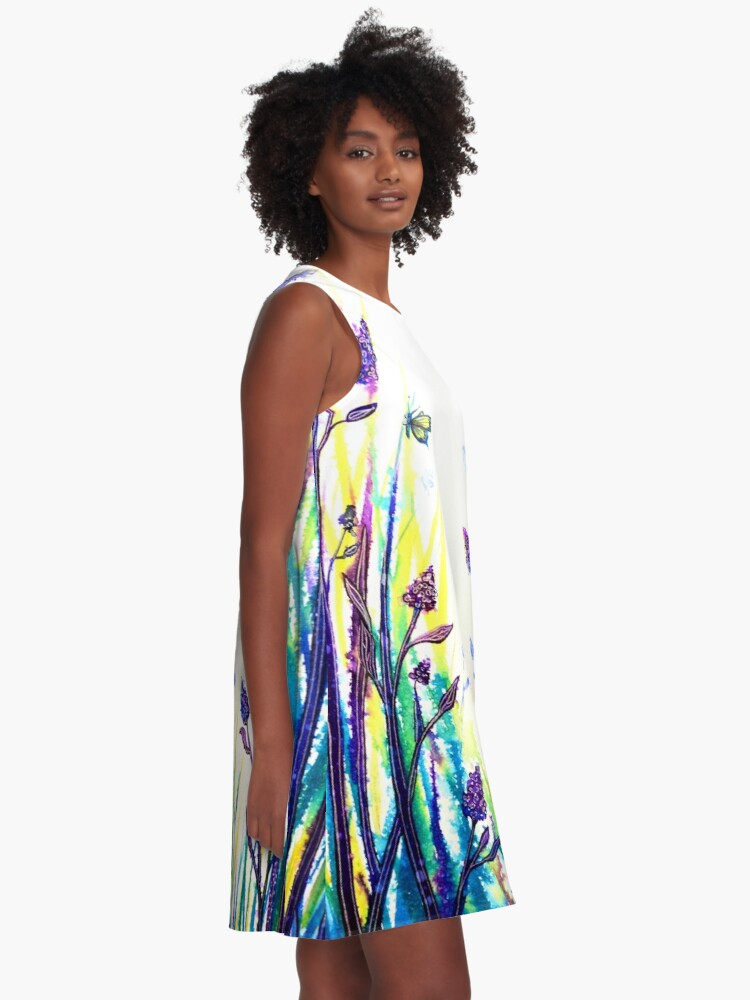 Alternate view of Lavender Fields A-Line Dress