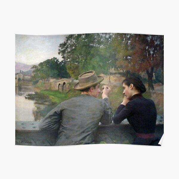 Les Amoureux - The Lovers - Émile Friant - 1888 Poster
