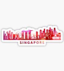 Colorful Singapore Art Sticker