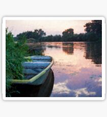 The Tranquil Elbe River Sticker