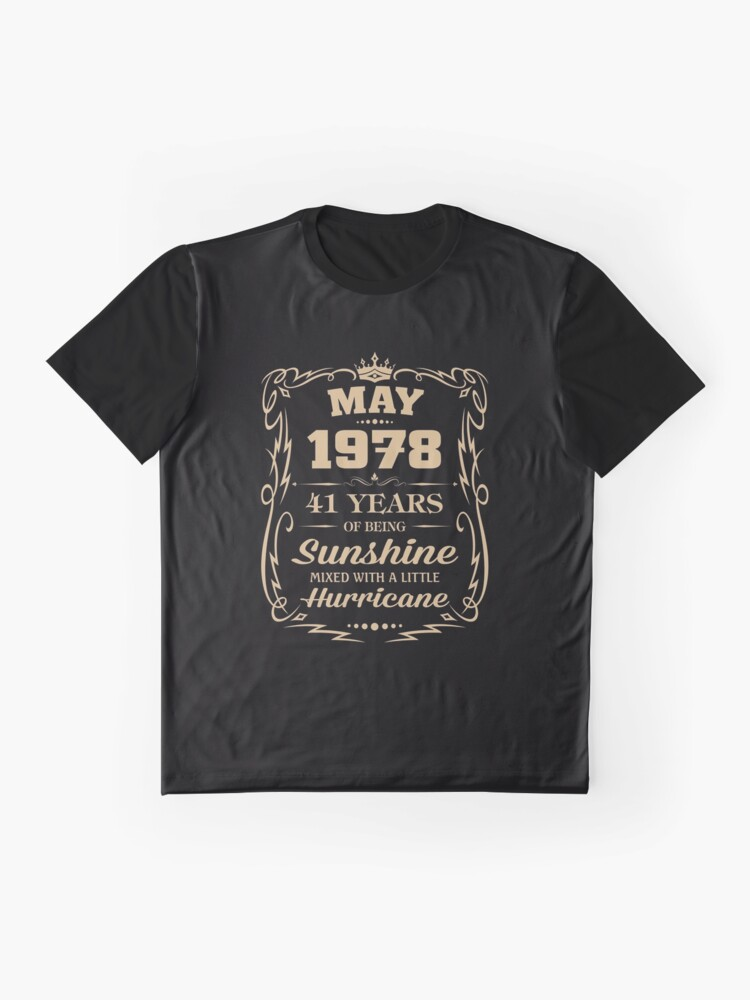 Alternate view of May 1978 Sunshine Mixed With A Little Hurricane Graphic T-Shirt