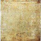 Ursprüngliche Unabhängigkeitserklärung der Vereinigten Staaten von Amerika (1776) von allhistory