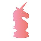 Chess Pink Unicorn by Elsbet