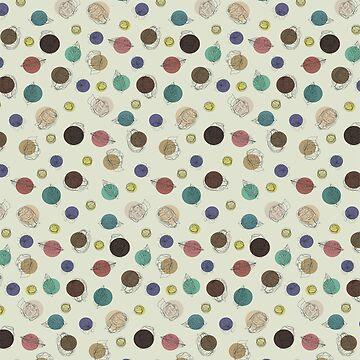 Single-Line Dot Pattern by maryhorohoe