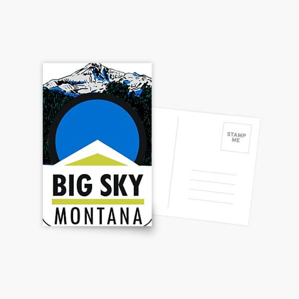Big Sky Montana Vintage Travel Decal Postcard