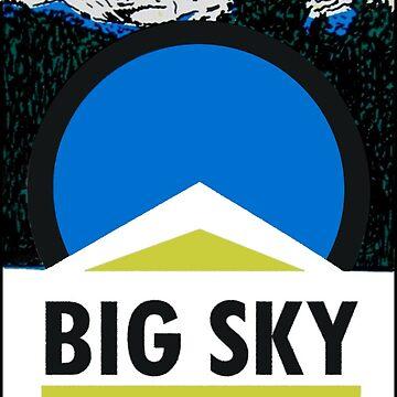 Big Sky Montana Vintage Travel Decal by hilda74