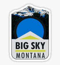 Big Sky Montana Vintage Travel Decal Sticker