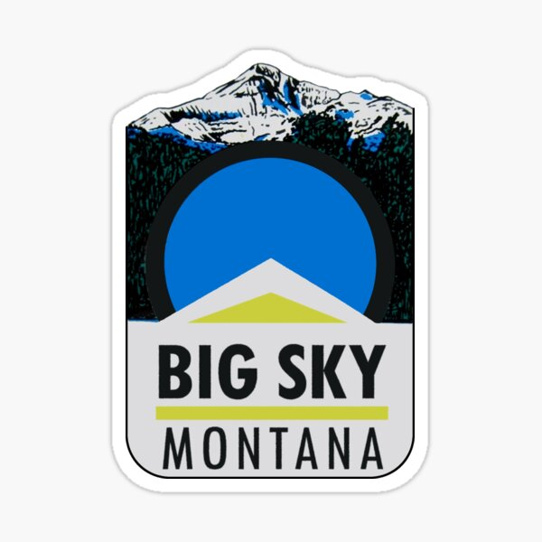 Big Sky Montana Vintage Travel Decal Sticker