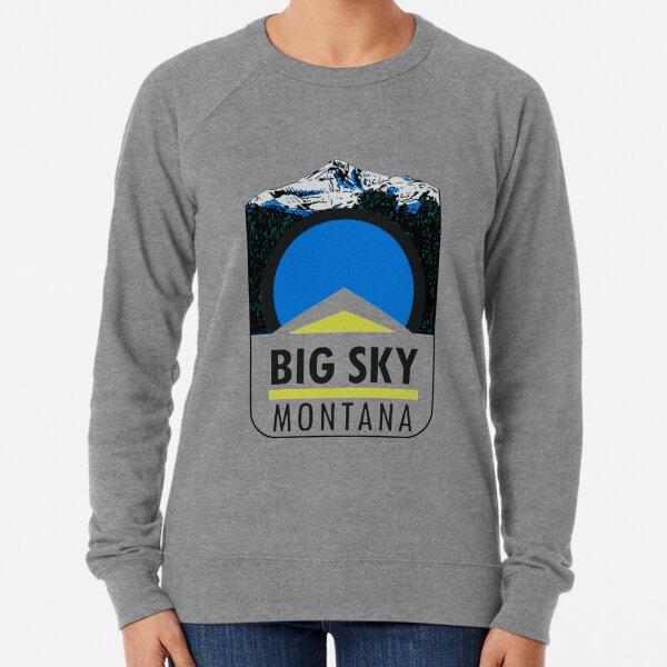 Big Sky Montana Vintage Travel Decal Lightweight Sweatshirt