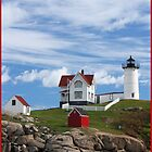 Nubble Lighthouse by Arline Grant